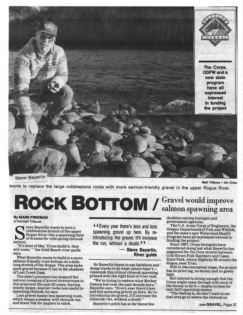 1994 Spawning Gravel Article - Oregon Strong